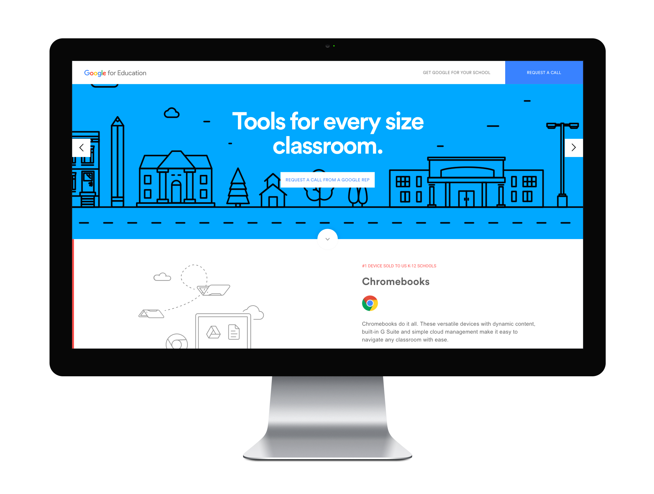 google_edu_website_mockup